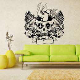 2019 carteles del cráneo Halloween Skull Demon Wall Decals Horric Skull Head Etiqueta de La Pared Decoración Del Hogar Wallpaper Wall Poster Decor rebajas carteles del cráneo