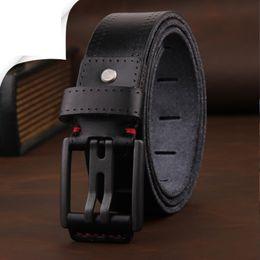Wholesale Mens Red Leather Belts - 2017 mens luxury belt leather mens belts cinturones hombre pin buckle ceinture male business designer belts men quality