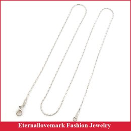 Wholesale Steel 1mm - Wide 1mm link thin chain stainless steel necklace of fashion jewelry design for men and women