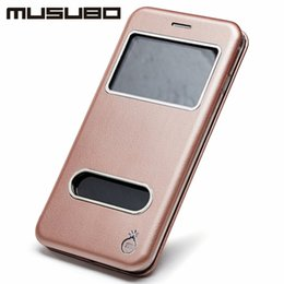 Wholesale Musubo Iphone Cases - Musubo Original PU Leather Flip Cover For iPhone X 8 8Plus Case PU Top Touch Feeling Smooth TPU Cases For iPhone 7 7Plus