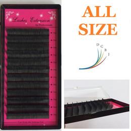 Wholesale Eyelash Flares - Wholesale-all size J,B, C, D( 8 10 12 14mm) individual silk eyelashes ,flare eyealshes,individual eyealshes,false eyelashes,Soft Black