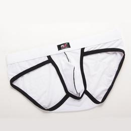 Wholesale cotton tanga panties - wangjiang Cotton Mens Brief Sexy Men's Underwear Briefs Low Rise U Convex Boyshorts Man Male Gay Panties Solid Tanga S M L