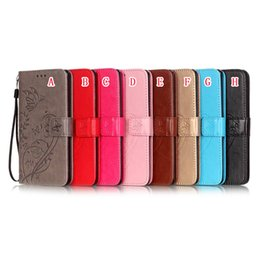 Wholesale play wallets - Flower Butterfly Wallet Leather Pouch Case For LG G5 G4 K4 K7 M1 K8 2018 K10 LS770 Stylus Stylo 2 LS775 MOTO G3 G4 X Play Card Stand Cover