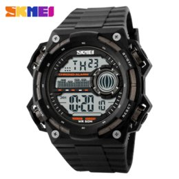 Wholesale Student Swimming - Men's LED Digital Military Watches Fashion Sports Watch Dive Swim Climb Outdoor Casual Wristwatches 50M Waterproof Student Clock