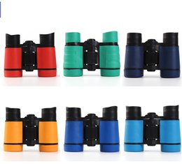 Wholesale plastic images - 4x30 Plastic Children Binoculars Pocket Telescope Maginification For Kids Outdoor Games Boys Toys Gift 100pcs lot