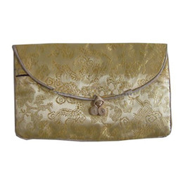 Wholesale Wholesale Small Paper Gift Bags - Ethnic Small Zipper Pouches Jewelry Set Bag for Gift Chinese knot Wallet Coin Purse paper Napkin sack Vintage Pearl Necklace Packaging Pouch