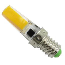 Paquets chauds en Ligne-E14 Europe bougie lustre ampoule en cristal lampe lumière du jour lumière 4W COB 2508 LED dimmable blanc / CA 120V 220V chaud (pack de 10)