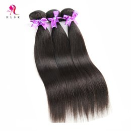 Wholesale Discount Virgin Hair - 7A Big Discount Jet-Black Cheap Indian Remy Hair Weft Virgin Remy Hair Natural Wave Straight Hair Color #1 Free DHL FAST Shipping