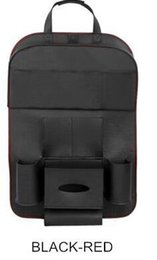Wholesale Leather Car Visor Organizer - Leather Car Back Seat Organizer Pockets Folding Car Backseat Hanging holder Storage Bags Car Tissue Bag Auto Organizador Black