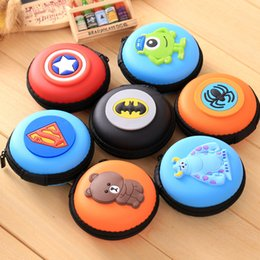 Wholesale Cheap Boys Wallets - Cartoon Wallet Student Purse Coin Keychain Keys Bag Batman Super Heroes Spiderman for Boys Girls Cute Animals for Sale with Cheap Price 014