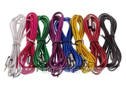 Wholesale Mp3 Roses - Aux Audio Cable 3.5mm Male to Male Car Scale Longer Extension 3M-10FT Cord for Speaker MP3 50pcs lot