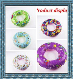 Wholesale wholesale swimming rings - In Stock Wholesale PVC Children's Adult Inflatable Fancy Swimming Rings Thickened DHL or SF EXPRESS free shipping