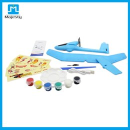 Wholesale Teenagers Model - DIY airplane Thunderbird Teenagers Aviation Model Planes Powered By Rubber Band Flying Airplane Plane Glider DIY Assembly Model-Colors