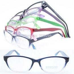 Wholesale Wholesale Colorful Optical Frames - Wholesale- 20pcs a lot wholesale colorful 78223 injection acetate dual colors walkers shape lightweight simple optical eyeglass frames