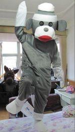 Wholesale Monkey Mascot Costume Adult - Hot sale new style Sock monkey Adult Mascot Costume fancy dress for Chrstmas Festival Size : S M L XL XXL