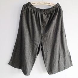 Wholesale Home Sports Pants Men - Wholesale-Male fashion cotton thin casual sports pants man sleep bottoms shorts at home knee-length pajama pants sleepwear sleep dress