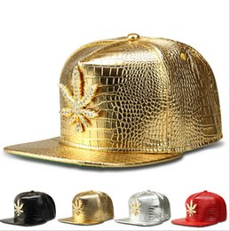 Wholesale Wedding Hats For Men - Wed Snapbacks Caps Hats Hip-hop Caps Wed baseball caps Gold Leather Wed snapback hats for men women adjustable snapbacks Top Quality D472