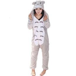 комбинезон тоторо Скидка Японский аниме Мой сосед Тоторо комбинезон пижамы пижамы Тоторо косплей костюм Тоторо Onesie пижамы пижамы Feminino мужчины комбинезон