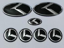 alfa romeo vinyl Promotion 7pcs nouveau logo K noir emblème badge pour KIA nouveau Forte K3 2014 emblèmes YD 2015 / voiture / autocollant 3D