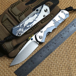 Wholesale Chris Reeves Knifes - Chris Reeve Large Sebenza 25 Titanium Handle D2 steel blade Folding Pocket hunting Knife camp Tactical survival outdoor knives edc tools