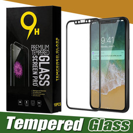 Wholesale Iphone Full Boxes - Glossy Carbon Fiber 3D Curved Edge Tempered Glass Screen Protector Full Cover Film For iPhone X 8 7 Plus 6 6S Samsung S7 With Retail Box