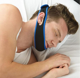 Wholesale Chin Straps - Anti Snoring Chin Strap Neoprene Stop Snoring Chin Support Belt Anti Apnea Jaw Solution Sleep Device