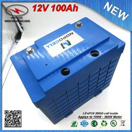 Wholesale Electric Car Solar - 360W Li-ion Battery Pack 12V 100Ah Lipo battery for Electric Bike EV HEV Car scooter UPS Streetlamp solar system FREE SHIPPING
