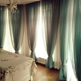 Wholesale Chinese Curtains Bedrooms - White cotton line window curtain products rideaux occultant chinese sheer curtains cuisine bedroom kitchen door curtains drapes rideaux cuis