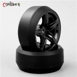 Wholesale Hsp Rc Tires - 4pcs 1:10 RC Drift Tires&Wheels hub Rim for HSP HPI On-Road Racing Car tire