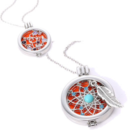 Wholesale Glass Jewelry For Essential Oils - High Quality Aromatherapy Opening floating lockets Pendant necklace diamond-encrusted Essential Oil Diffuser necklace For women jewelry