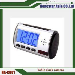 Wholesale alarm clock hidden camera dvr - Mini camera DVR alarm clock camcorder Spy Camera DVR Hidden HD Camera vedio recorder Motion Remote Control