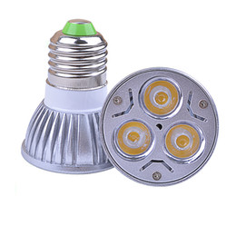 Wholesale Cree Mr16 3w Led Bulbs - CREE led bulbs E27 E26 MR16 GU10 GU5.3 3W LED spotlights Dimmable 12V led lights UL high power