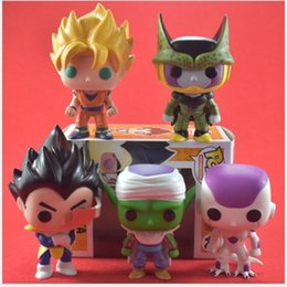 Wholesale Clear Finishes - 3 style FUNKO POP Q version of Super Saiyan Sun WuKong PVC animation Action Figures model Seven dragon ball Z