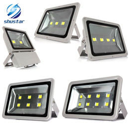 Wholesale Wholesale Outside Lights - DHL Outdoor lighting 100W 150W 200W 300W 400W Epistar Led Floodlight AC85-265V Flood light Waterproof Outside Led Reflector