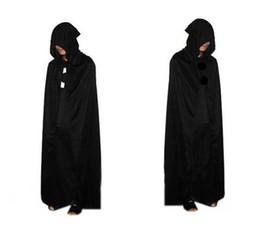 Grim Reaper Costume Spot Costume di Halloween Mantello Morte Mantello nero Grande diavolo Mantello con cappuccio Mantello nero Morte da f1 luce fornitori