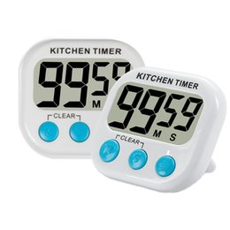 Wholesale Magnetic Countdown Timer - 2pcs Digital Kitchen Timer with Premium Magnetic Backing for Cooking, Baking and More (LCD Display, Loud Alarm, Countdown)