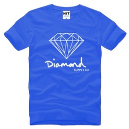 Wholesale Diamond T Shirts - New Summer Cotton Mens T Shirts Fashion Short-sleeve Printed Diamond Supply Co Male Tops Tees Skate Brand Hip Hop Sport Clothes Tee Shirt