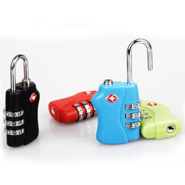 Wholesale Custom Suitcases - DHL free shipping Customs Luggage Padlock TSA338 Resettable 3 Digit Combination Padlock Suitcase Travel Lock TSA locks