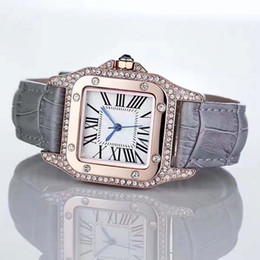 Wholesale Pink Gem Stones - Charming Luxury watches Women Watch Diamonds Bezel Rome Numbers Top Brand Import Quartz Wristwatches for Lady Girl Best Gift AAA Relojes