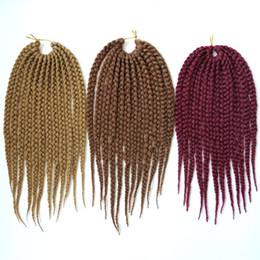 Wholesale wholesale bulk sales - Kanekalon Synthetic braiding hair Bulk Crochet Box Braids 12inch 75g 3X Twist Synthetic hair extensions hot sale