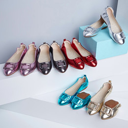 Wholesale Pvc Leather Rolls - I love you -- six colors cake roll of single shoes, folding single girls shoes