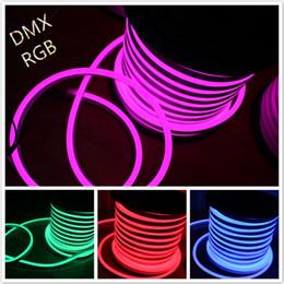 2019 luci del tatuaggio al neon 50M 14x26mm DC12V RGB LED Neon Flex SMD5050 LED Tubo flessibile al neon Festival luci Decorazione Illuminazione Neon Shop Sign