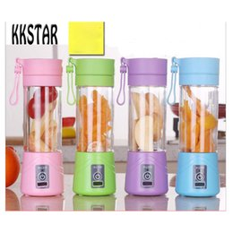 Wholesale Home Electric Mixer - 4 Colors USB Rechargeable Electric Fruit Juicer Cup Blender Fruit Vegetable Tools Home Garden Kitchen Tools
