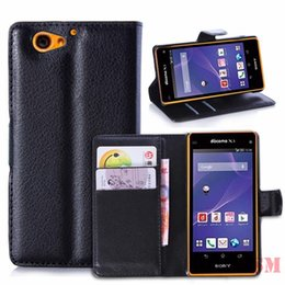 Wholesale A2 Leather - For Sony Xperia Leather Wallet Card Stand Case Cover For Sony Xperia Z1 Z2 Z3 A2 M2 M E3 T2 T3 MOQ 50PC