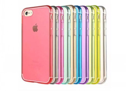 Argentina Teléfono Celular Candy Cases para iPhone 7 6g samsung s7 plus 7th Ultra Thin Crystal Clear Transparent Soft TPU silicona Gel Back Cover cheap iphone 6g thin Suministro