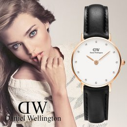 Wholesale Gold Disks - New Fashion Girls Small disk Daniel watches 26mm women watches Luxury Brand Quartz Watch Clock Wristwatches Relogio Feminino Montre Femme