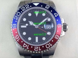 ceramic swiss eta Promo Codes - Factory Men's Top Quality Watches 40mm Red Blue Ceramic 116710 Stainless Steel Luxury Swiss ETA 2836-2 Movement Mens Automatic Wristwatches
