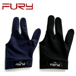 Wholesale Pool Open - 2017 New Design FURY Pool Billiards gloves Left Hand Open 3 Finger 8 9ball Snooker Cue Gloves billiard Player accessories