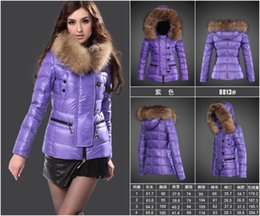 Wholesale White Fur Hats Mink - 2017 France Monclearing goose Down coat winter women real fox collar white duck down parka mink fur coat winter coat women warm Snow Classic