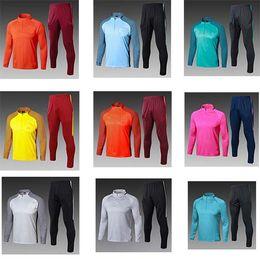 Wholesale Men White Suit Shirts - 2018 New MESSI Soccer Training Suits Uniforms Shirts Football Camiseta de Futbol O.DEMBELE SUAREZ Blaugrana Winter Survetement Tracksuits